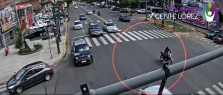 Vicente López: Persecución y detención de un ladrón en moto