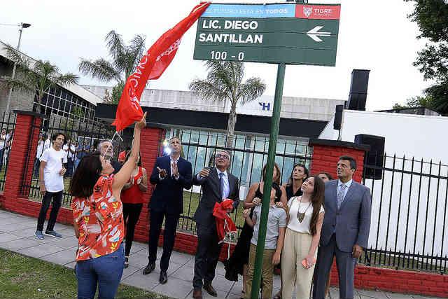 Tigre rindió homenaje a Diego Santillán, primer secretario de Protección Ciudadana del distrito