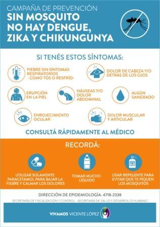 Campaña contra el Dengue en Vicente López: postas de prevención, todo el verano