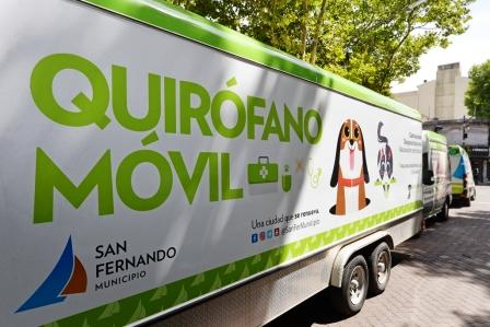 Operativo de castración y vacunación de mascotas en Plaza Mitre de San Fernando