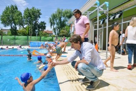 Juan Andreotti recorrió las Colonias de Verano de San Fernando