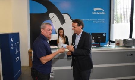 Ahora, en San Martín las licencias de conducir se entregan en el momento