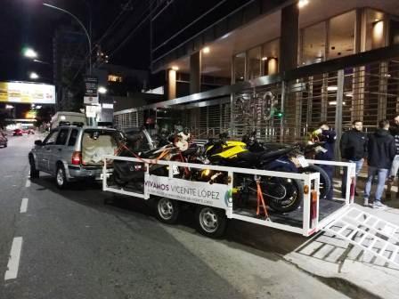 Más de veinte vehículos secuestrados en un operativo de control de tránsito en Vicente López