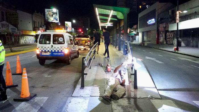Vicente López refuerza los trabajos de mantenimientos en el Metrobus.