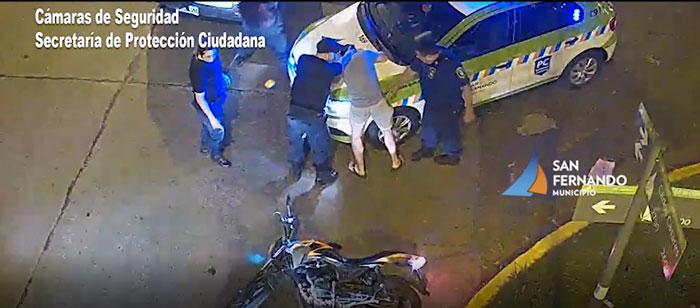 Tras gran persecución, motociclista fue detenido por las Patrullas Municipales de San Fernando.