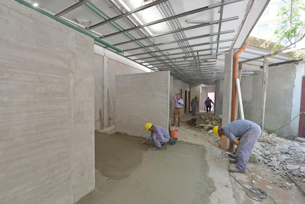 San Fernando construye un nuevo Vacunatorio Municipal.