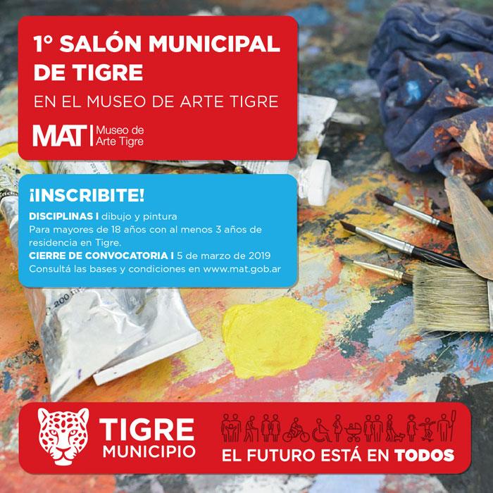Tigre: continúa abierta la inscripción de artistas visuales para participar en la 1° edición del Salón Municipal.