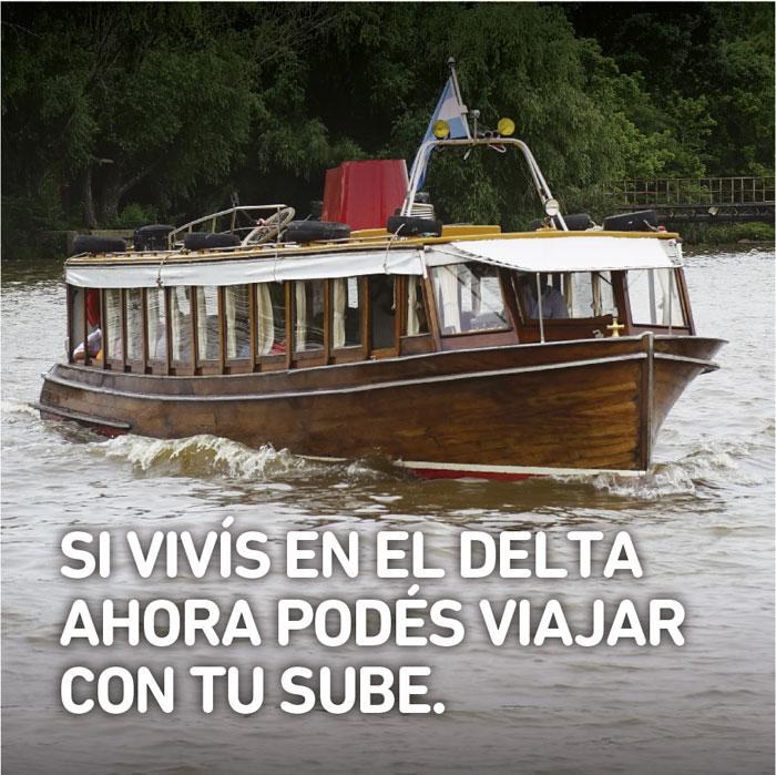 Ahora podrán viajar con la SUBE en el transporte fluvial manteniendo el beneficio de residente isleño.
