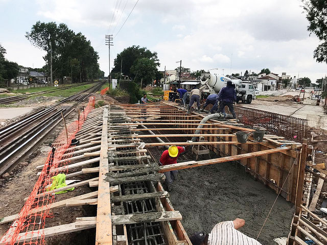 San Isidro: avanza la construcción del futuro túnel de Sarratea.