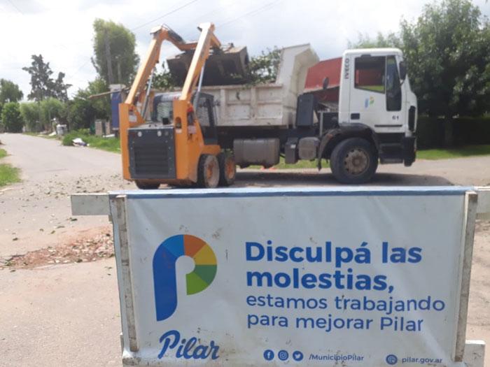 Tareas de mejoramiento en Peruzzotti, Villa Astolfi, Monterrey y La Lonja en Pilar.