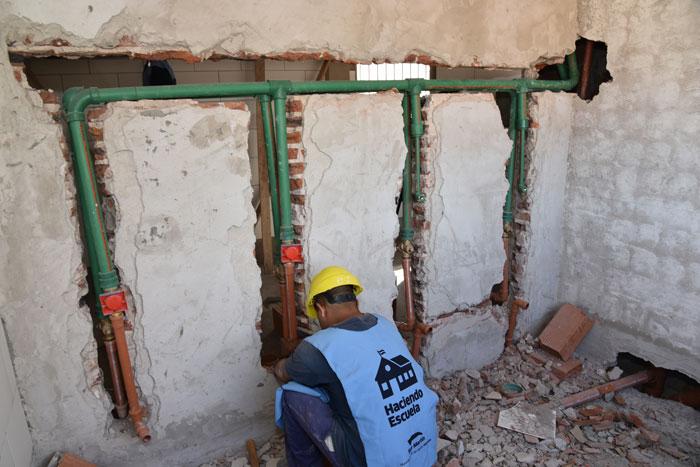 El Municipio sigue remodelando las escuelas de la ciudad.