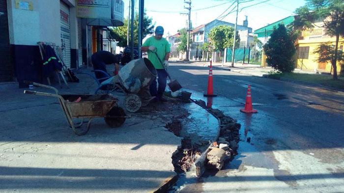 Mantenimiento de infraestructura urbana en Rincón de Milberg.