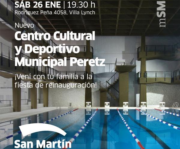 El sábado, Katopodis reinaugurará el Centro Cultural y Deportivo Municipal Peretz.