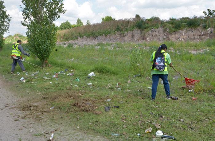San Fernando limpió y realizó control de plagas en distintos barrios de Virreyes.