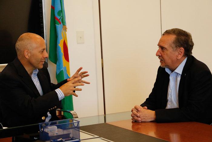 Ducoté y Barañao reunidos para potenciar proyectos de innovación en Pilar.