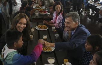 Mauricio Macri y María Eugenia Vidal visitaron el centro recreativo en Ezeiza
