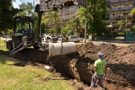 El Municipio amplía los desagües en el Bajo de San Fernando