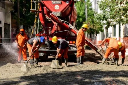 San Fernando comenzó una nueva etapa de obra en la calle Rivadavia, hacia el río