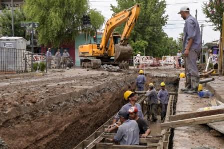 Avanzan las obras hidraúlicas del Municipio en Virreyes