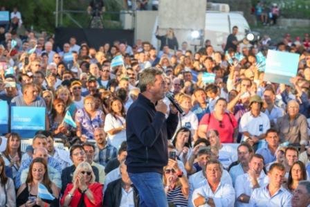 Sergio Massa en la ciudad de Mar del Plata, en el marco del lanzamiento de Alternativa Federal. El acto contó con la presencia de 1.500 dirigentes de todo el país