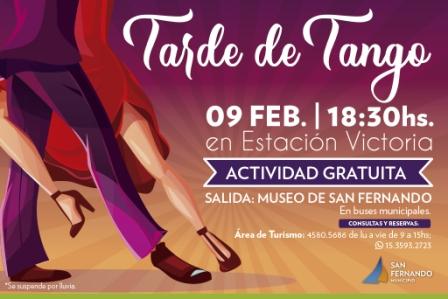 Se viene una Tarde de Tango en la Estación Victoria de San Fernando