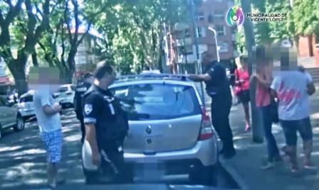 Un Beba rescatada del interior de un auto gracias a un llamado desde un Punto Seguro en Olivos