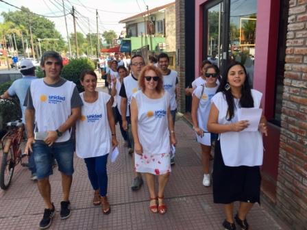 Unidad Ciudadana caminó Rincón de Milberg