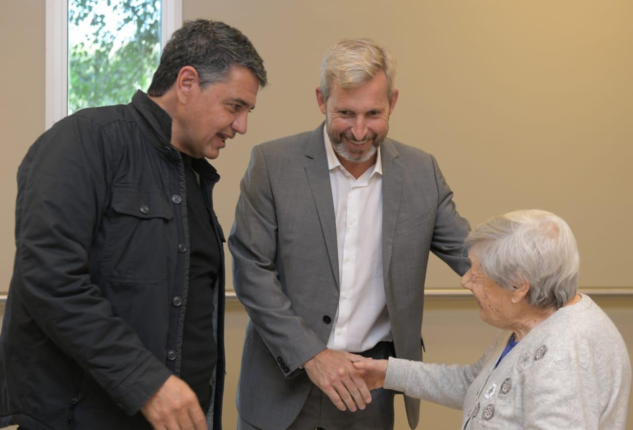 Frigerio y Jorge Macri supervisaron los avances de las obras en el geriátrico de Vicente López