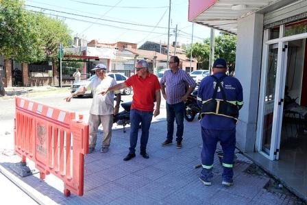 ulio Zamora supervisó obras realizadas con fondos municipales en Ricardo Rojas