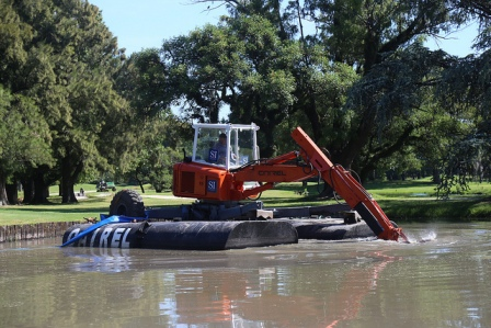 San Isidro realizó trabajos de mantenimiento en el reservorio del Jockey Club