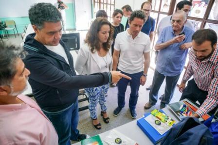 Jorge Macri y Gabriel Sánchez Zinny lanzaron la Escuela de Verano en la Técnica Nº1 de Vicente López