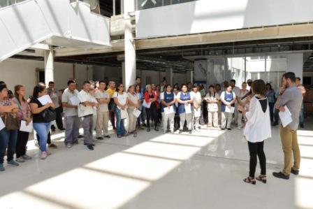 San Fernando: El personal que integrará el Hospital Municipal recorrió las nuevas instalaciones