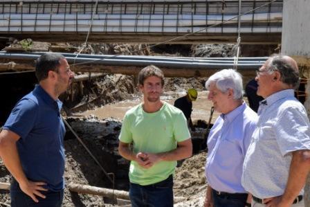 El Intendente de San Fernando, Luis Andreotti, y el Diputado Provincial Juan Andreotti, supervisaron el avance de la obra del 5to paso bajo nivel que se construye íntegramente con fondos municipales.