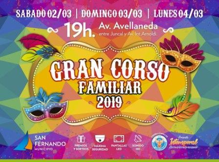 Se viene el Gran Corso Familiar 2019 de San Fernando