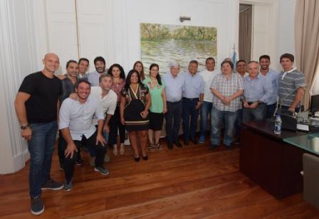 Luis Andreotti recibió a concejales de la primera sección electoral