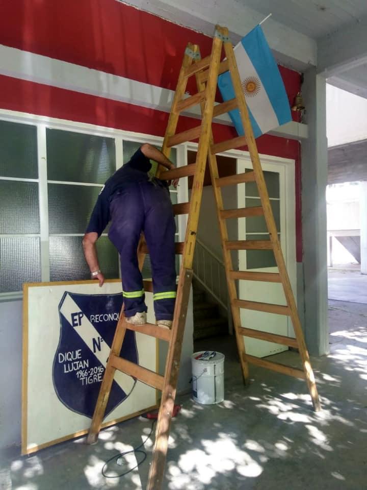 Tigre colaboró con mantenimiento integral en la Escuela Primaria N°16 de Dique Luján