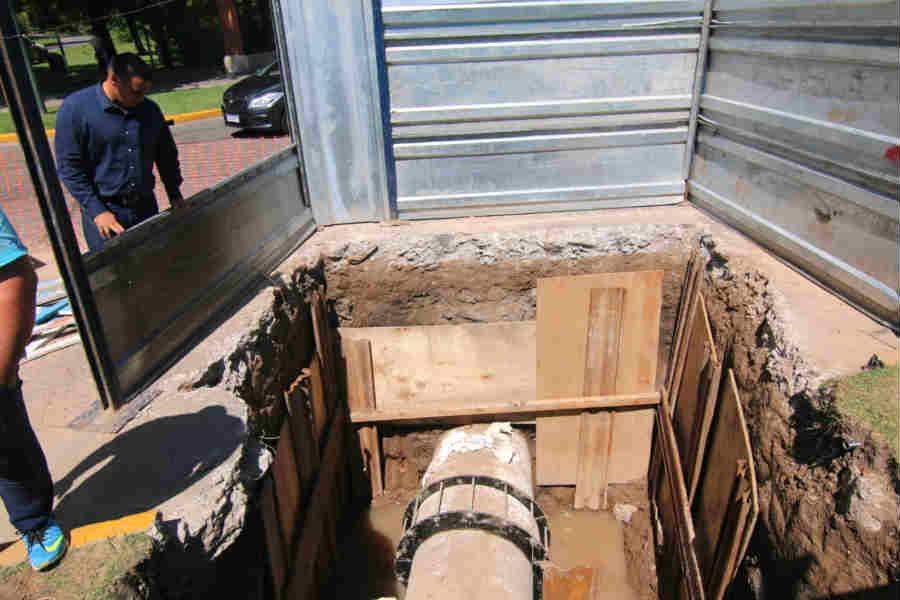 AYSA finalizó la reparación del caño de la Rotonda Av. Márquez en San Isidro