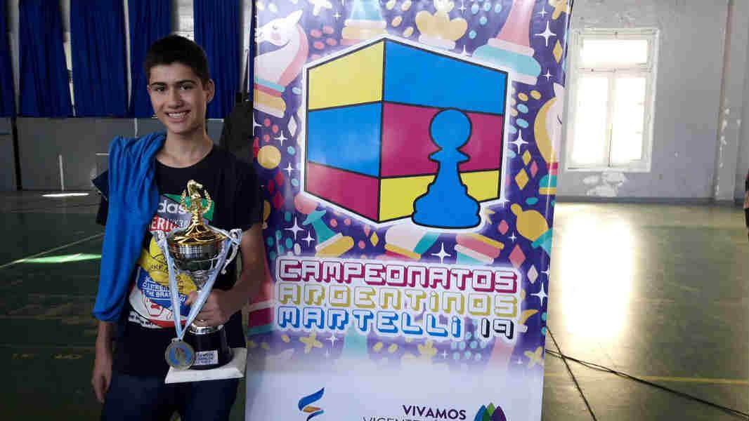 El vecino de Benavídez Gaspar Asprelli se coronó campeón argentino de ajedrez Sub-16