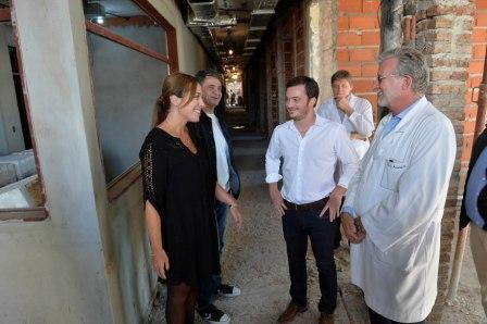 Vidal estuvo junto al intendente local, Jorge Macri, el ministro de Salud de la Provincia, Andrés Scarsi y el director del Hospital, Celso Arabetti.
