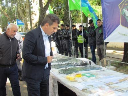 """Ritondo supervisó en Tigre los resultados de los operativos que desbarataron a la banda """"Reyes del  Norte"""""""