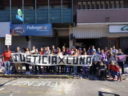 Familiares, vecinos y militantes en Tribunales de San Isidro - Caso Luna Ortíz
