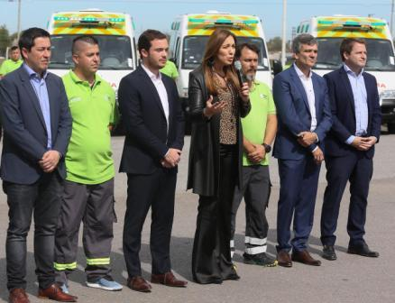 """Vidal anunció que el SAME ya opera en cien municipios de la provincia y que """"trabajamos para llegar a los 135"""