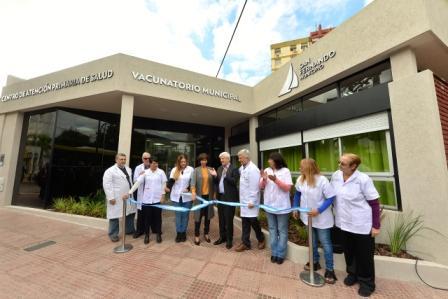 Andreotti inauguró un nuevo Centro de Salud y Vacunatorio