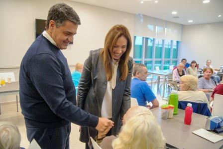orge Macri recorrió junto a María Eugenia Vidal el nuevo geriátrico municipal