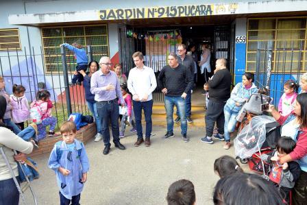 Julio Zamora anunció en Las Tunas nuevos juegos y obras de renovación para el jardín N° 915