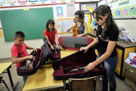 Tigre celebró el nacimiento de su séptima orquesta infanto juvenil
