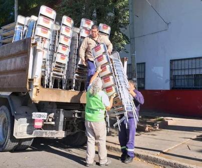 Tigre continúa equipando las escuelas del distrito con nuevo mobiliario