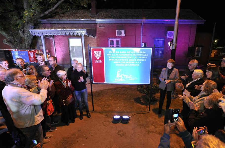 Tigre celebró el 143° aniversario del paso del primer tren por la estación de Benavídez