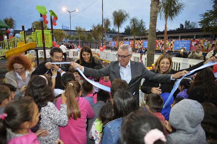En el marco de la inauguración de los juegos y renovación de la plaza N°31