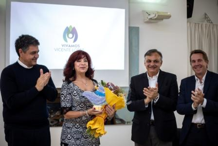 Jorge Macri participó de la entrega de un premio a Silvia Irigaray, presidente de Madres del Dolor